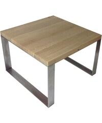 Open design Table basse bois et métal - beige