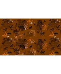Maison Sams Fauve - Etole en soie imprimée - orange