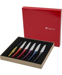 Guy Degrenne Quartz - Coffret 6 couteaux à steak - multicolore
