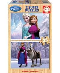 Educa Puzzle Bois 2x25 - Jeu de construction - multicolore