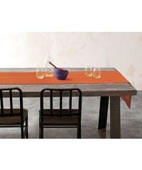 Blanc Cerise Délices de Lin - Chemin de table - orange