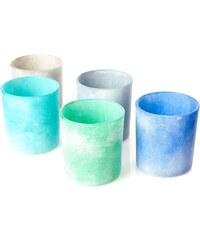 Excellent houseware Coffret de 5 photophores - multicolore