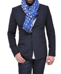 Bob Catz Etole longue en jacquard de laine tissé - bleu