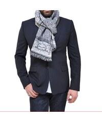 Bob Catz Etole longue en jacquard de laine tissé gris