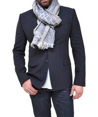 Bob Catz Etole longue en jacquard de laine gris clair