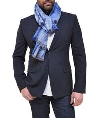 Bob Catz Etole longue en jacquard de laine bleu clair