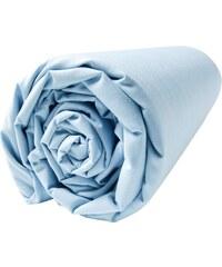 Blanc Cerise Drap housse en percale 80 fils/cm² - bleu