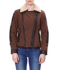 Oakwood Jacke mit Einsätzen aus Leder - khaki