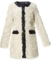 Oakwood Runaway - Manteau en fourrure avec finitions en cuir - blanc