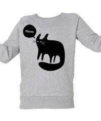 ArteCita Chat Noir Miaou - Top/tee-shirt - gris chine