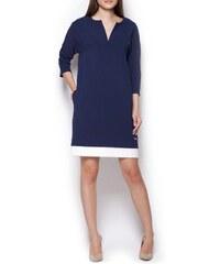 Figl Kleid mit Trapezschnitt - marineblau
