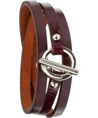 Toui2 Trendy - Bracelet triple tour en cuir - prune