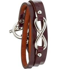 Toui2 Infinity - Bracelet triple tour en cuir - prune