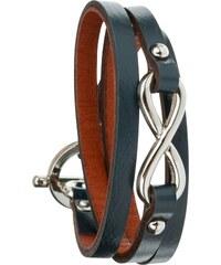 Toui2 Infinity - Bracelet triple tour en cuir - pétrole