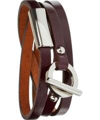 Toui2 Classy - Bracelet triple tour en cuir - prune