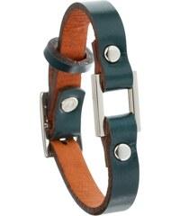 Toui2 Identity - Bracelet simple tour en cuir - Bleu pétrole