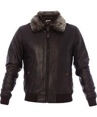 Schott Jacke - aus schwarzem Leder