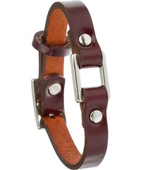 Toui2 Identity - Bracelet lanière cuir - prune
