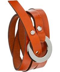 Toui2 Catchy - Bracelet triple tour en cuir - orange