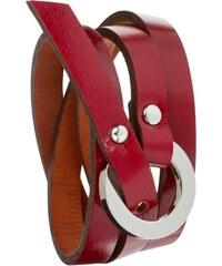 Toui2 Catchy - Bracelet triple tour en cuir - rouge