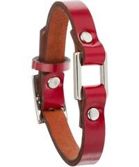 Toui2 Identity - Bracelet lanière cuir - rouge