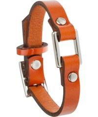 Toui2 Identity - Bracelet lanière cuir - orange