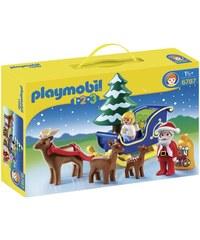 Playmobil 1.2.3 - Pere Noel et ange avec traineau - multicolore