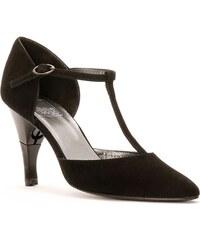 Billie Tango Lady - Salomé cuir talon pliable et rétractable - noir