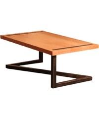 Barnabé Table basse design en bois et acier - noir