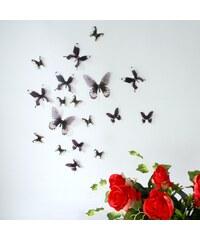 Ambiance Live Papillons 3D chics - Sticker - noir