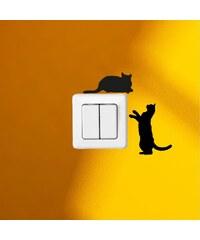 Ambiance Live Deux petits chats - Sticker - noir