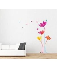 Ambiance Live Fleurs arc-en-ciel - Sticker - multicolore