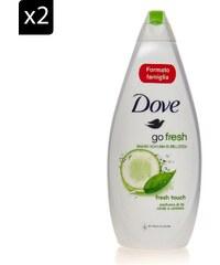 Dove Go Fresh - Lot de 2 gels douche - 700 ml