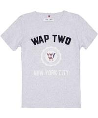 Wap Two Patchy - T-shirt imprimé - gris chine