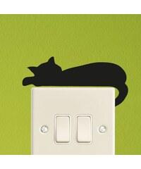 Ambiance Live Mini-sticker chat endormi - Sticker - noir