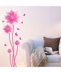 Pick & Stick Fleurs et papillons roses - Sticker - rose