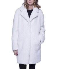 Trench and coat BOUCLETTE - Manteau long en fausse fourrure - blanc