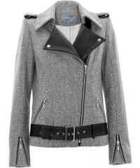 Stefanie Renoma Perfecto en laine mélangée et applications en cuir - noir