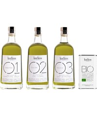 Kalios Collection 4 huiles d'olives gastronomiques