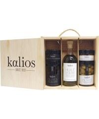 Kalios Coffret bois huile et olives