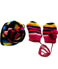 Marese Ensemble bonnet/écharpe/gants - rose indien