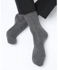 Bleuforêt Chaussettes en cachemire et soie - gris flanelle