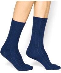 Bleuforêt Chaussettes en laine et soie - marine