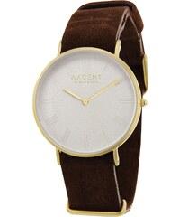 Axcent Montre bracelet en cuir et acier