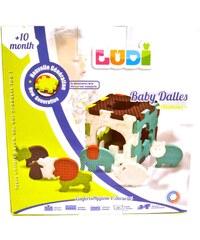 Ludi 6 baby dalles animaux - multicolore