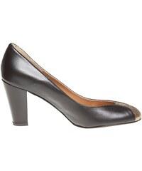 Bichette Escarpin à bout rond en cuir noir - Escarpin - noir