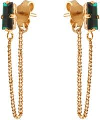 Caroline Najman Glitter Baguette - Boucles d'oreilles - Emerald