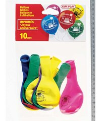 Kim'Play Lot de 10 ballons - multicolore