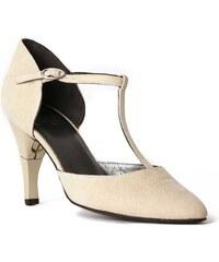Billie Tango Lady Galucha - Salomé cuir talon pliable et rétractable - beige