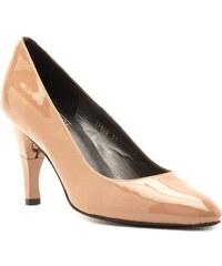 Billie Tango Moon Vernis - Chaussures femme en cuir semi pointu à talon rétractable - beige